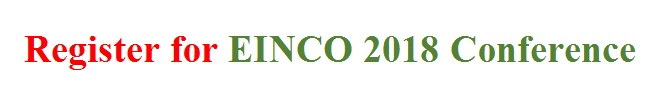 Get registered for EINCO 2018