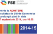 Admitere 2014 - Sesiunea septembrie 2014