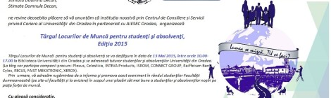 Targul locurilor de munca, Universitatea din Oradea, Miercuri 13 Mai