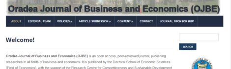 Call for papers Oradea Journal of Business and Economics no. 3