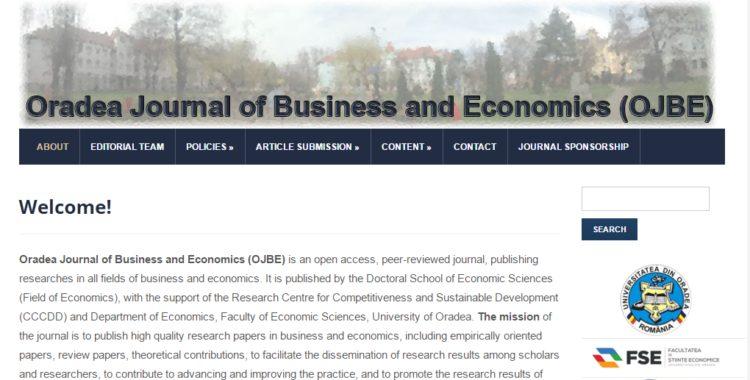 Oradea Journal of Business and Economics nr. 2