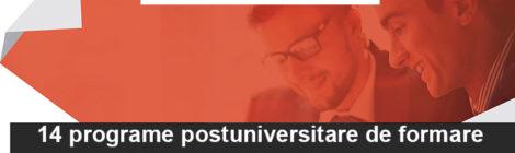 14 programe postuniversitare de formare și dezvoltare profesională continuă