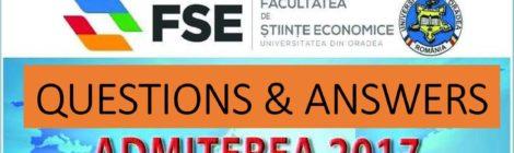 Intrebari si raspunsuri despre Admiterea 2017 - interviu cu decanul Facultatii de Stiinte Economice
