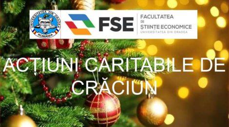 Facultatea de Stiinte Economice sprijina actiunile caritabile organizate cu ocazia Sarbatorii Craciunului