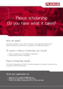 Plexus Scholarship