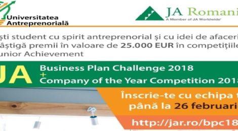 Competitii JA de antreprenoriat pentru studenti