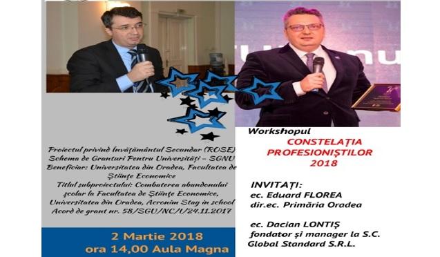 Workshop Constelația  profesioniștilor organizat în cadrul proiectului ROSE