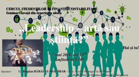 """Evenimentul  """"Leadership – artă sau știință?"""""""