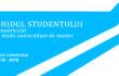 GHIDUL STUDENTULUI înmatriculat la studii universitare de master 2018-2019