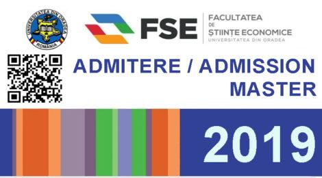 Admitere master 2019