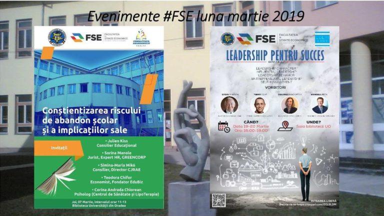 Evenimente FSE - luna martie 2019