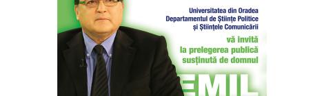 Prelegere publică susținută de domnul Emil HUREZEANU