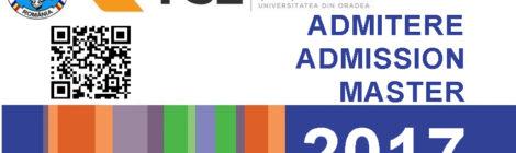 Admitere master 2017