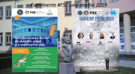 Evenimente FSE luna martie 2019