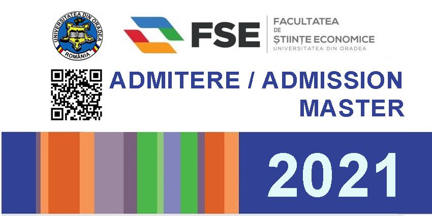 Admitere master 2021