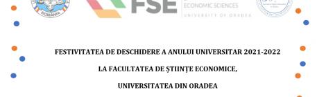 PROGRAM 1 octombrie 2021 - Festivitatea de deschidere a anului universitar 2021-2022 la Facultatea de Științe Economice